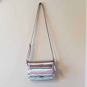 Relic cross body purse with cute stripes